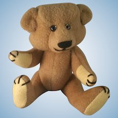 """Artist made Mohair Teddy Bear 12"""" fully jointed by Lois Beck 1986"""