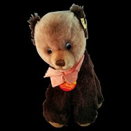 Steiff Tapsy Young Brown Bear Mohair #6425/18 Vintage c1975 - NWT