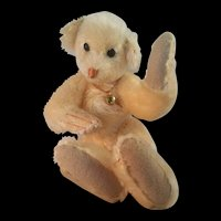Wonderful OOAK Artist made Mohair Lucky #7 Arctic White Bear 1987 by Elva