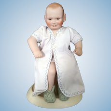 Rare Claire Mueller Happy Baby Doll Bisque head, arms and legs - cloth body 1974 NIADA