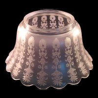 Antique Glass Scallop Trim Frosted & Etched Lamp shade
