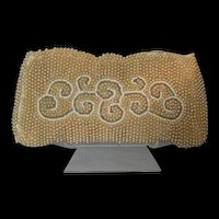 Vintage Small Glass Beaded Evening bag from 1940's handmade in Japan