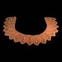 Vintage Pearl and Rhinestone handmade Beaded Collar by Glentex made in Japan