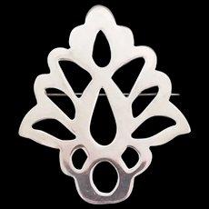 Vintage Sterling Silver Tree Pin Brooch
