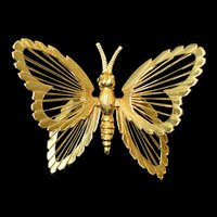 Vintage Monet Butterfly Pin brooch