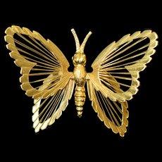 Vintage Monet Butterfly Pin brooch