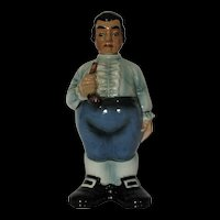 1940's English Colonial Man with Pistol Porcelain Decanter #5021