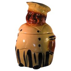 Black Americana Cookie Jar National Silver Chef Collector Marked U.S.A. N.S. Co. 1940's