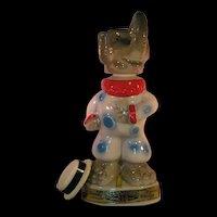 GOP Elephant Clown Liquor Decanter - 1968 Kentucky Straight Bourbon tags