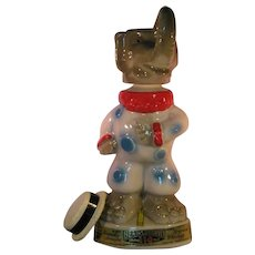 Republican Clown GOP Elephant 1968 Liquor Decanter - 1968 Kentucky Straight Bourbon tags