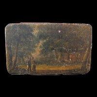 Rare Victorian Style Farmers Tobacco Tin with Farm Scene