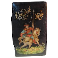 Antique Snuff Box with Kraljevic Marko the Serbian King circa 1900s