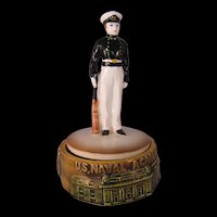 Vintage U.S. Naval Academy Music Box – Anchors Aweigh