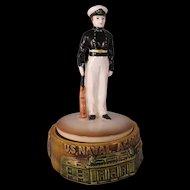 Vintage U.S. Naval Academy Music Box – Anchors Aweigh