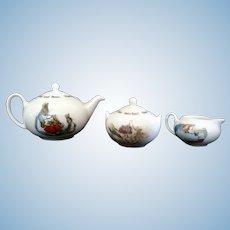 Wedgewood Bone China Miniature Peter Rabbit Teapot Mini Set 1983