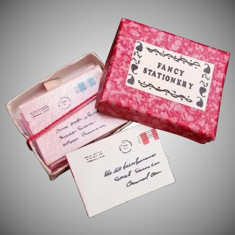 Vintage Miniature Box of Fancy stationary and postcards