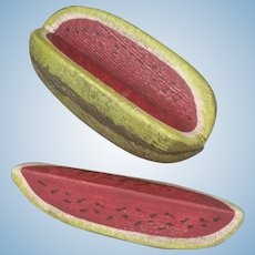 Watermelon and wedge miniature - Artist made Wood