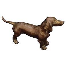 Vintage Dachshund Dog Dodge Inc Cast Metal figurine paperweight