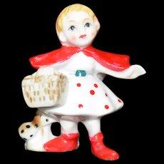 Red Riding hood Miniature Bone China figurine c1960