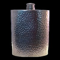 English Pewter Hammered Flask 8 oz. Vintage made in Sheffield