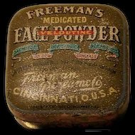 Freeman's Medicated Face Powder Advertising Sample Tin c1914