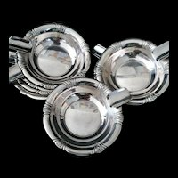 Sterling Silver Diner table set of 8 ashtrays by Towle of Newburyport, MA c1960's