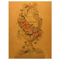 Victorian Illustration from Frances S. Osgoods Book - The Poetry of Flowers and Flowers of Poetry, 1844