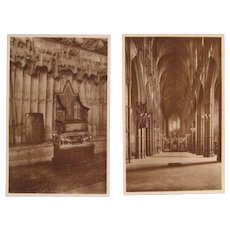 Postcards Westminster Abbey 2 Real Photo by Raphael Tuck & Sons Late 1800's