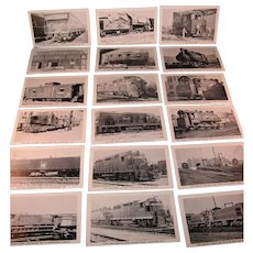 Train Picture Post Cards 21 Vintage NY and NJ Rail Road Cars by Etch tone