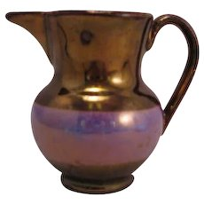 Copper Lustre ware Purple Band Mini Creamer mid 1800's - Red Earthware England