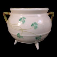 Belleek Shamrock Open sugar bowl pot - 5th Mark 1955-1965