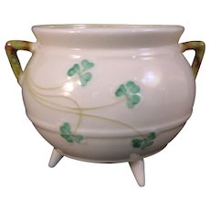 Belleek Shamrock Open sugar bowl pot - 5th Mark 1955-1965