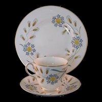 Wedgewood Wheatear Bone China W4051 3 Pc Tea Settings Mid 20th Century