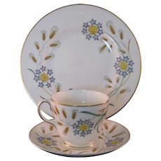 Wedgewood Wheatear Bone China W4051 3 Pc Tea Settings Mid 20th Century