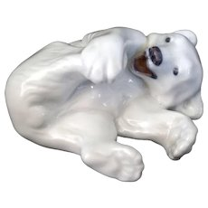 Royal Copenhagen Porcelain Polar Bear Cub #729 Signed FP
