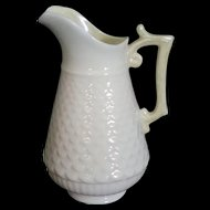 Belleek Small scale Pitcher yellow luster 3rd mark 1926-1946