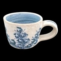 Dorchester Pottery Blueberry Demitasse Cup signed C.A.H.