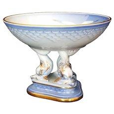 Seagull Compote by Bing & Grondahl Copenhagen Porcelain #451 c1970
