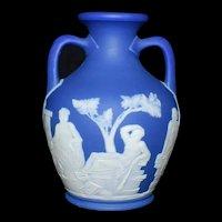 "Wedgwood Cobalt Blue Portland Vase  Dipped 4""  c1820"