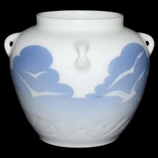 Rare Seagull Porcelain Vase by Royal Copenhagen c1900