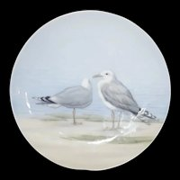 Seagulls Wall Plate signed B&G Bing and Grondahl #6659/357-20 c1910