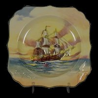 Royal Doulton Famous Ships H.M.S. Bounty Decorative Plate D5937
