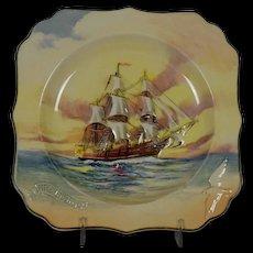 Royal Doulton Famous Ships H.M.S. Bounty Decorative Plate D5937