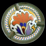 Vintage Gouda Ashtray - Metz Royal Pattern - Dutch Art Pottery - Zuid Holland