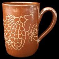 Dorchester Pottery Pinecone Brown Mug R.B. 1951