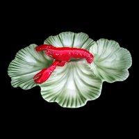 Large Crawfish Lobster serving platter 4 sections Brad Keeler Made in USA c1950