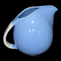 Hall's Blue Pinch Pitcher Rose Parade Made in USA Vintage #1259