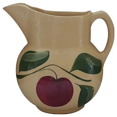 Red Apple Pitcher by Watt Pottery #17 pitcher