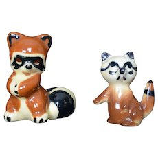 Twin Winton Rare Raccoon Pottery 1930's figurine original Signed