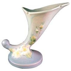 """Roseville Wild Rose Cornucopia Vase 1940  143-6"""""""